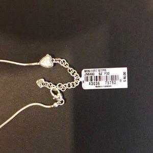 Brighton mini heart silver chain